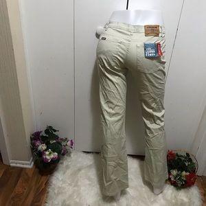 Jordache Khaki Color Jeans Stretch Flare 9/10R
